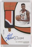 Rookie Patch Autographs - De'Andre Hunter #/99