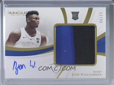 2019-20 Panini Immaculate Collection Collegiate - Premium Patches Rookie Autographs #81 - Zion Williamson /99 [NearMint]