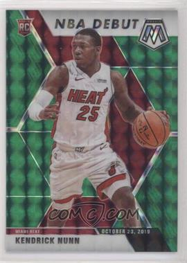 2019-20 Panini Mosaic - [Base] - Green Prizm #268 - NBA Debut - Kendrick Nunn