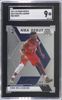 NBA Debut - Zion Williamson [SGC9MINT]