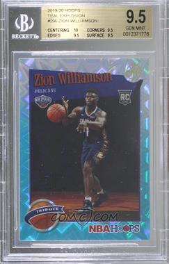 2019-20 Panini NBA Hoops - [Base] - Teal Explosion #296 - Hoops Tribute - Zion Williamson [BGS9.5GEMMINT]