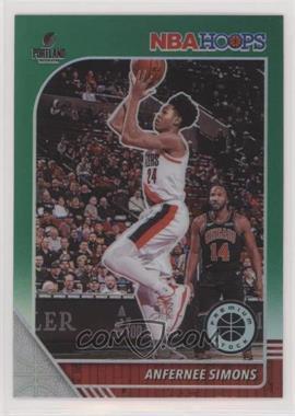 2019-20 Panini NBA Hoops Premium Stock - [Base] - Green Prizm #268 - Anfernee Simons