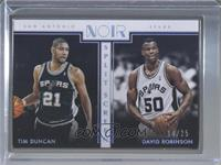 Metal Frame Split Screen - David Robinson, Tim Duncan #/25