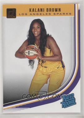 2019 Panini Donruss WNBA - [Base] #97 - Rated Rookies - Kalani Brown