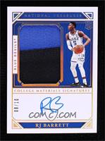 College Materials Signatures - RJ Barrett #/10