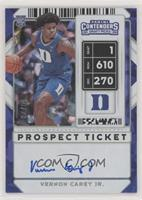 Prospect Ticket Autographs - Vernon Carey Jr. #/23