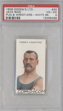 1908 Ogden's Pugilists & Wrestlers - Tobacco [Base] #30 - Jack Bain [PSA4VG‑EX]