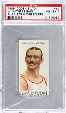 1909 Ogden's Pugilists & Wrestlers Series 2 - Tobacco [Base] #59 - W. Withers Bain [PSA 4 VG‑EX]