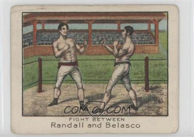 1910 ATC Champion Athlete and Prize Fighter Series - Tobacco T220 - Mecca Back #JRAB - Fight Between Randall & Belasco [Poor to Fair]