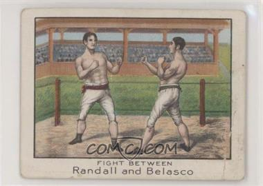 1910 ATC Champion Athlete and Prize Fighter Series - Tobacco T220 - Mecca Back #JRAB - Fight Between Randall & Belasco [PoortoFair]
