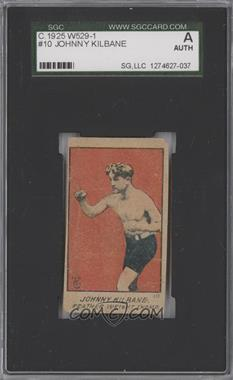 1920-25 W529 Strip Card - [Base] - Type 1 #10 - Johnny Kilbane [SGC AUTHENTIC]