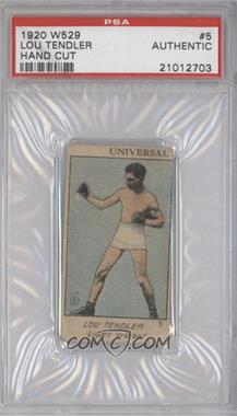 1920-25 W529 Strip Card - [Base] - Type 1 #N/A - Lou Tendler [PSAAUTHENTIC]
