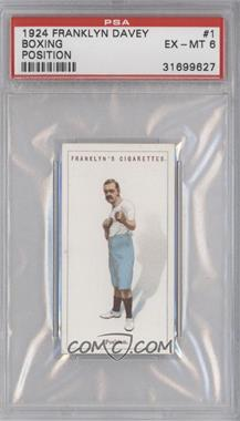 1924 Franklyn, Davey & Co. Boxing - [Base] #1 - Position [PSA 6]