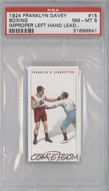 1924 Franklyn, Davey & Co. Boxing - [Base] #15 - Improper left hand lead… [PSA8]