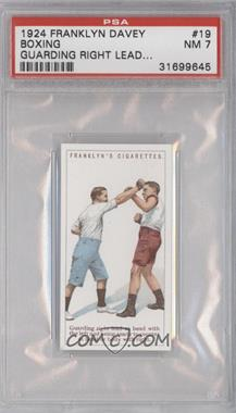 1924 Franklyn, Davey & Co. Boxing - [Base] #19 - Guarding right lead at head… [PSA7]