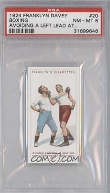 1924 Franklyn, Davey & Co. Boxing - [Base] #20 - Avoiding a left lead at head… [PSA8]