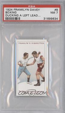 1924 Franklyn, Davey & Co. Boxing - [Base] #8 - Ducking a left lead… [PSA 7]