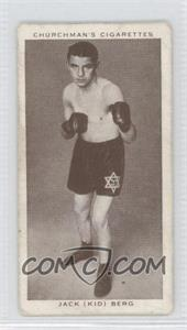 "1938 Churchman's Boxing Personalities - Tobacco [Base] #4 - Jack ""Kid"" Berg [Good to VG‑EX]"