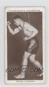 1938 Churchman's Boxing Personalities - Tobacco [Base] #7 - Primo Carnera [Good to VG‑EX]