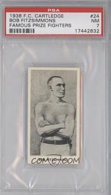 1938 Fred C. Cartledge Razors Famous Prize Fighters - [Base] #24 - Bob Fitzsimmons [PSA 7]