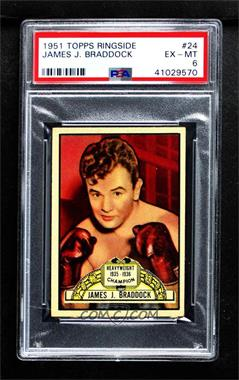 1951 Topps Ringside - [Base] #24 - Jim Braddock [PSA 6 EX‑MT]