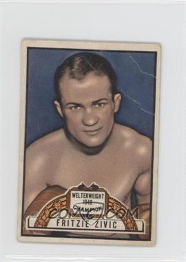 1951 Topps Ringside - [Base] #78 - Fritzie Zivic [Good to VG‑EX]