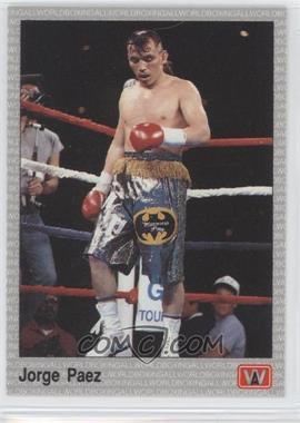 1991 All World Boxing - [Base] #122 - Jorge Paez