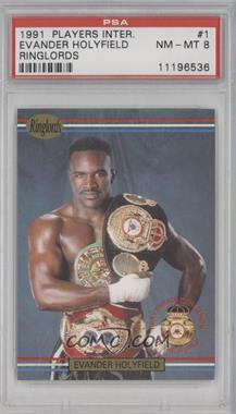 1991 Ringlords - [Base] #1.2 - Evander Holyfield (Printed in the U.K.) [PSA 8]