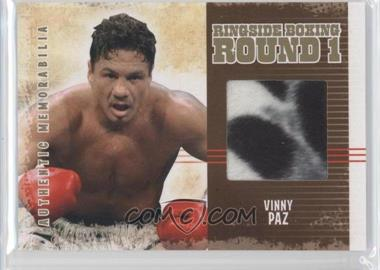 2010 Ringside Boxing Round 1 - Authentic Memorabilia - Gold #AM-25 - Vinny Paz /10