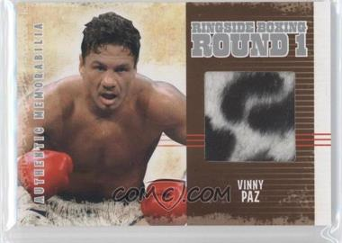 2010 Ringside Boxing Round 1 - Authentic Memorabilia - Silver #AM-25 - Vinny Paz /50