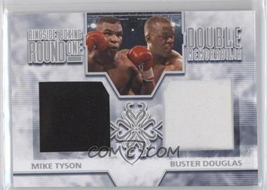 2010 Ringside Boxing Round 1 - Double Memorabilia - Silver #DM-06 - Mike Tyson, Buster Douglas /30