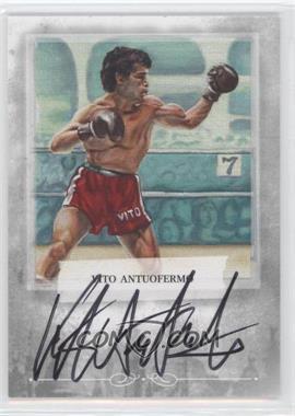2010 Ringside Boxing Round 1 - Mecca Autographs - Silver #A-VA2 - Vito Antuofermo