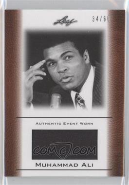 2011 Leaf Ali The Greatest - Event Worn Memorabilia Swatch #EW-35 - Muhammad Ali /60