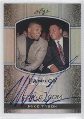 2011 Leaf Metal Ali - Fans Autographs - Silver Prismatic #FAUM-12 - Mike Tyson /25