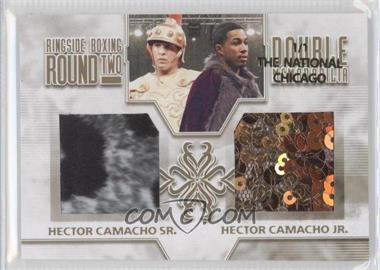 2011 Ringside Boxing Round 2 - Double Memorabilia - Gold The National Chicago #DM-13 - Hector Camacho Sr., Hector Camacho Jr. /1
