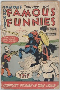 1934 - 1955 Eastern Color Printing Co. Famous Funnies #196 - Famous Funnies [Good/Fair/Poor]