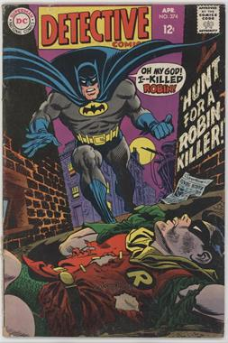 1937-2011 DC Comics Detective Comics Vol. 1 #374 - Hunt for a Robin Killer ; The Amazing Crook-Gatcher! [Readable(GD‑FN)]