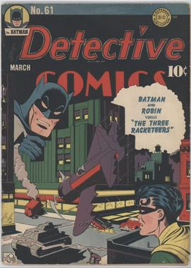 1937-2011 DC Comics Detective Comics Vol. 1 #61 - The Three Racketeers [Good/Fair/Poor]