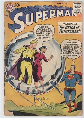 1939-1986, 2006-2011 DC Comics Superman Vol. 1 #121 - The Bride of Futureman! / The Great Superman Swindle / Jimmy Hits the Jackpot [Good/Fair/Poor]