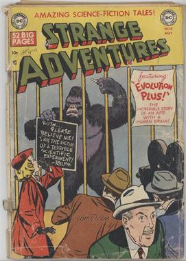 "1950 - 1973 DC Comics Strange Adventures 1 #8 - ""Incredible Story of an Ape with a Human Brain"" [Good/Fair/Poor]"
