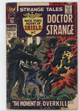 1951-1968, 1973-1976 Marvel Strange Tales Vol. 1 #151 - Overkill! [Readable(GD‑FN)]