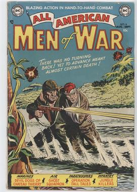 1952-1966 DC Comics All-American Men of War #6 - Jungle Killers!; Operation Tall Tales; Devil Dogs of Chateau Thierry!; Three For Danger!; Ghost Squadron
