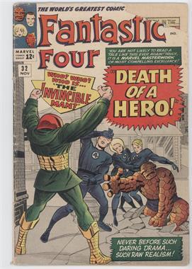 1961-1996, 2003-2012 Marvel Fantastic Four Vol. 1 #32 - Death of a Hero!