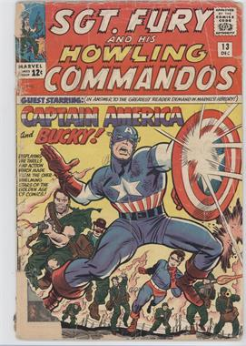 1963 - 1981 Marvel Sgt. Fury and His Howling Commandos #13 - Fighting Side-by-Side with Captain America and Bucky!