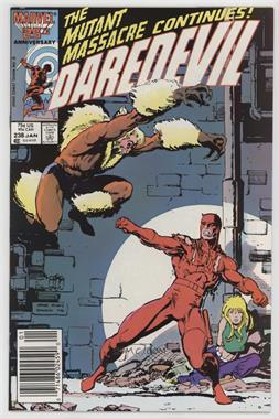 1964-1998, 2009-2011 Marvel Daredevil Vol. 1 #238 - It Comes With The Claws