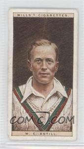 1928 Wills Cricketers - [Base] #1 - W.E. Astill [Good to VG‑EX]
