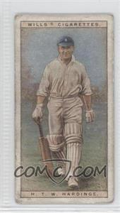 1928 Wills Cricketers - [Base] #19 - H.T.W. Hardinge [Poor to Fair]