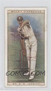 1928 Wills Cricketers - [Base] #25 - Mr. D.R. Jardine