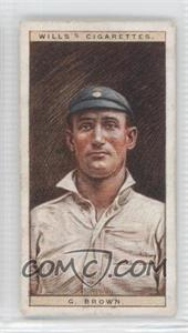 1928 Wills Cricketers - [Base] #3 - George Brown [Good to VG‑EX]
