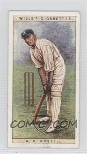 1928 Wills Cricketers - [Base] #37 - A.C. Russell